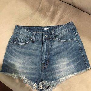 High waist denim shorts from bdg